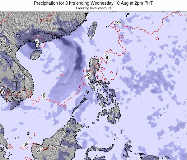Palau Precipitation for 3 hrs ending Monday 28 Apr at 8pm PHT