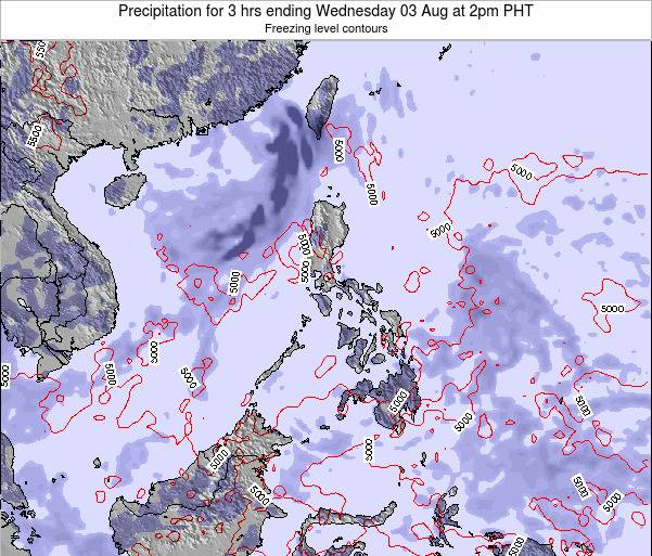 Philippines Precipitation for 3 hrs ending Monday 27 May at 8pm PHT map