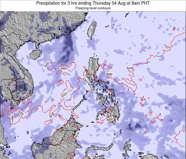 Palau Precipitation for 3 hrs ending Wednesday 30 May at 2am PHT map
