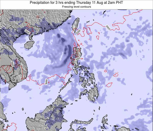 Palau Precipitation for 3 hrs ending Tuesday 31 Mar at 2am PHT