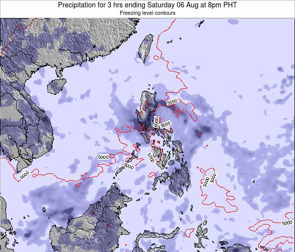 Palau Precipitation for 3 hrs ending Saturday 15 Mar at 8am PHT