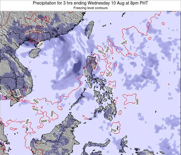 Palau Precipitation for 3 hrs ending Monday 27 May at 8pm PHT