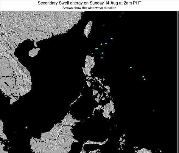 Philippines Secondary Swell energy on Sunday 26 May at 8am PHT