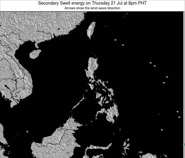 Philippines Secondary Swell energy on Thursday 23 May at 2pm PHT
