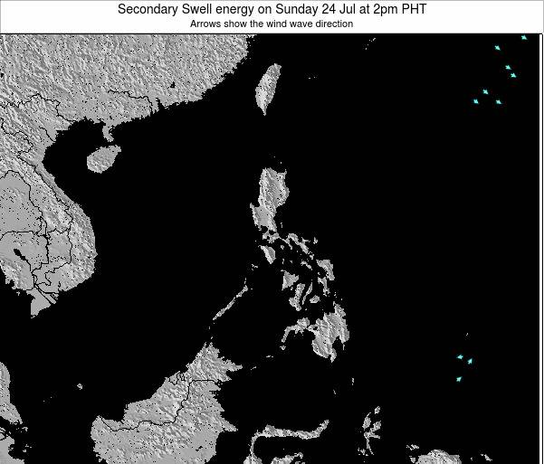 Philippines Secondary Swell energy on Thursday 17 Apr at 8pm PHT
