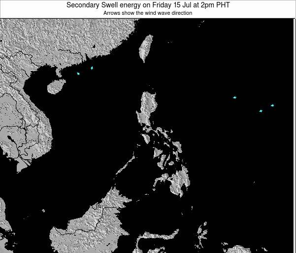 Philippines Secondary Swell energy on Sunday 26 Jun at 8pm PHT