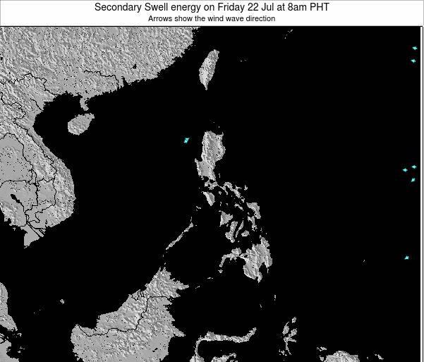 Philippines Secondary Swell energy on Friday 01 Aug at 2pm PHT