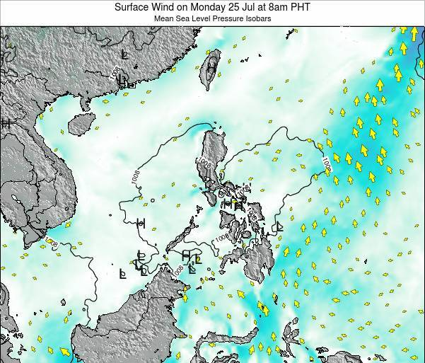 Paracel Islands Surface Wind on Wednesday 19 Jun at 8pm PHT map