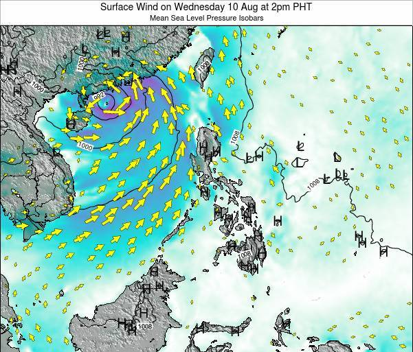 Palau Surface Wind on Tuesday 28 May at 2am PHT