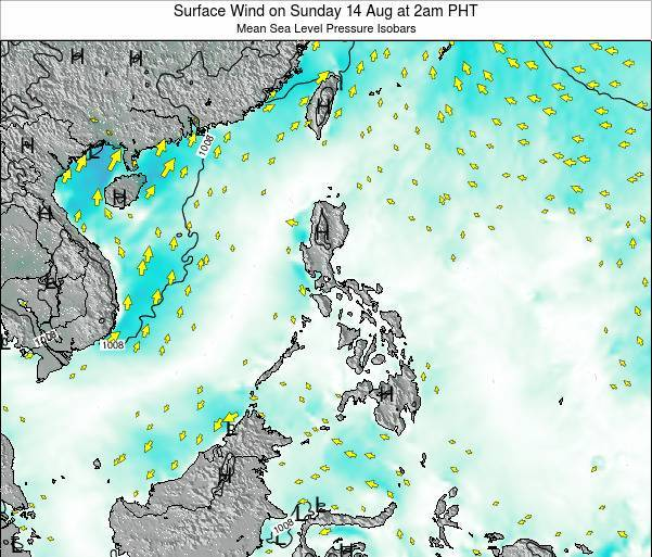Palau Surface Wind on Thursday 23 May at 8pm PHT