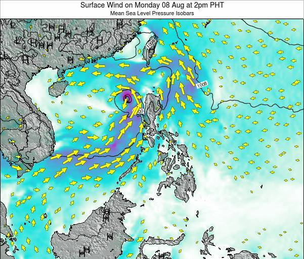 Philippines Surface Wind On Friday 22 Mar At 8am Pht