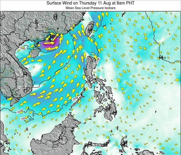 Paracel Islands Surface Wind on Friday 31 May at 2pm PHT map