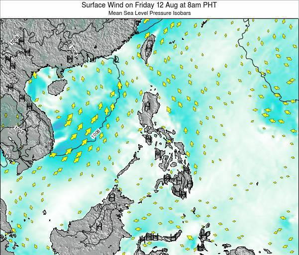Palau Surface Wind on Tuesday 28 May at 2pm PHT