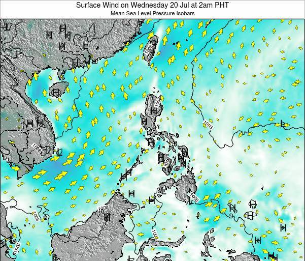 Palau Surface Wind on Saturday 01 Jun at 2pm PHT