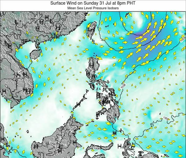 Paracel Islands Surface Wind on Thursday 30 May at 8pm PHT map