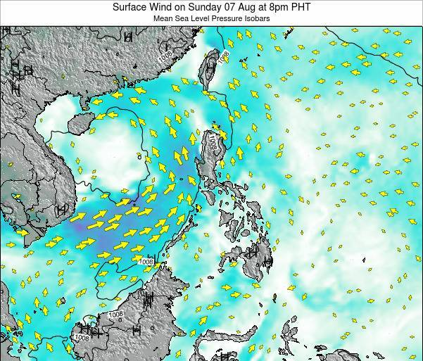 Paracel Islands Surface Wind on Wednesday 22 May at 2am PHT map