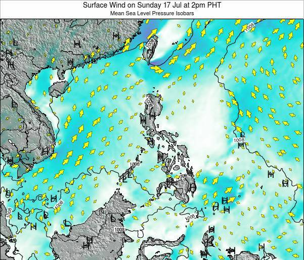 Paracel Islands Surface Wind on Monday 27 May at 2am PHT map