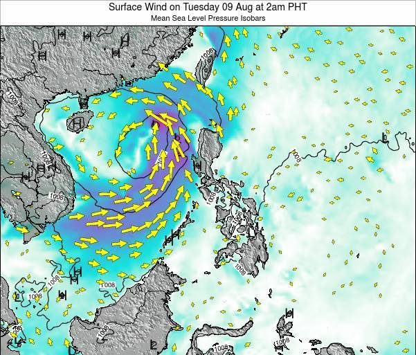 Palau Surface Wind on Saturday 25 May at 8am PHT