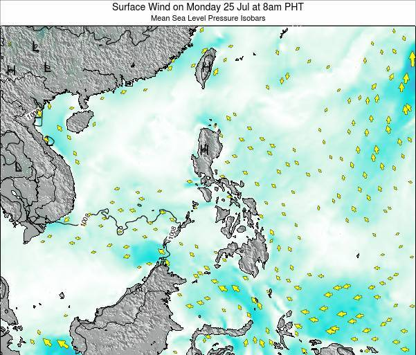 Paracel Islands Surface Wind on Saturday 25 May at 8am PHT map