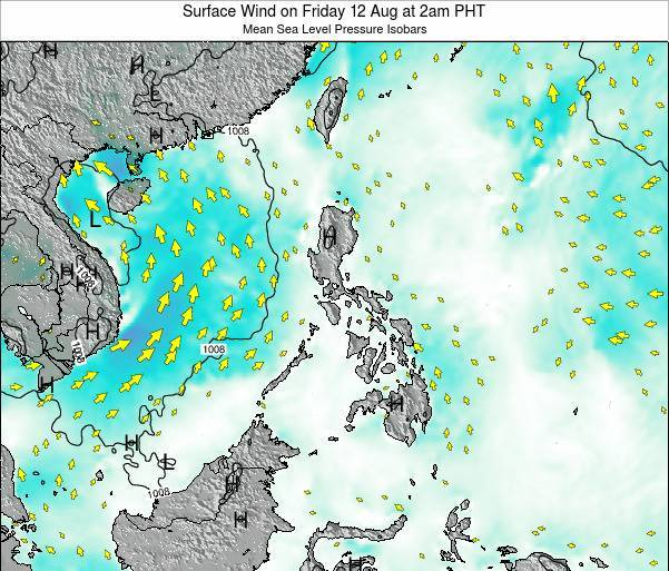 Palau Surface Wind on Saturday 25 May at 2pm PHT
