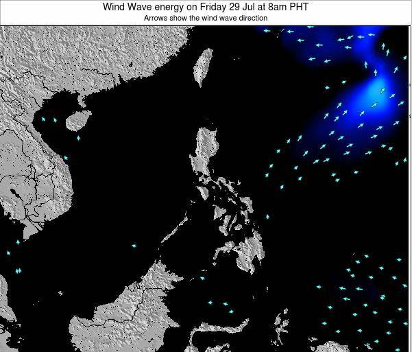 Palau Wind Wave energy on Wednesday 28 Aug at 2am PHT map