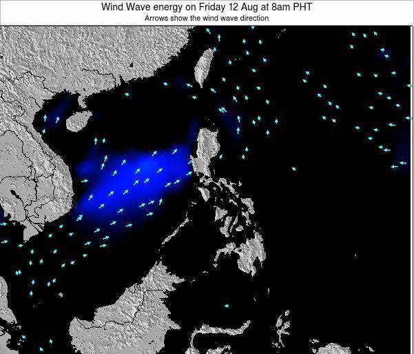 Philippines Wind Wave energy on Saturday 04 Apr at 8am PHT