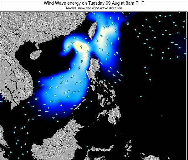 Philippines Wind Wave energy on Monday 29 Dec at 8pm PHT