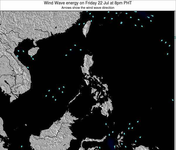 Palau Wind Wave energy on Friday 19 Oct at 8pm PHT map
