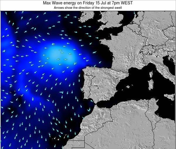 Portugal Max Wave energy on Tuesday 28 May at 1am WEST