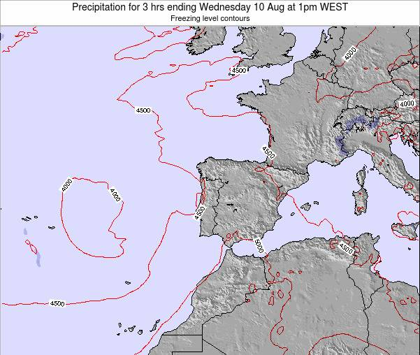 Portugal Precipitation for 3 hrs ending Sunday 26 May at 1pm WEST map