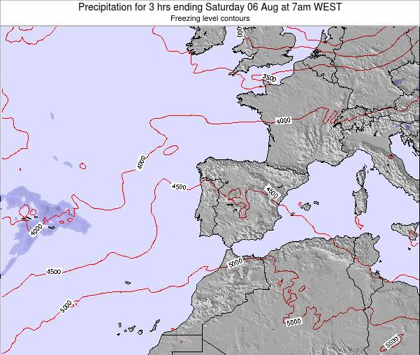 Portugal Precipitation for 3 hrs ending Thursday 23 May at 1am WEST map