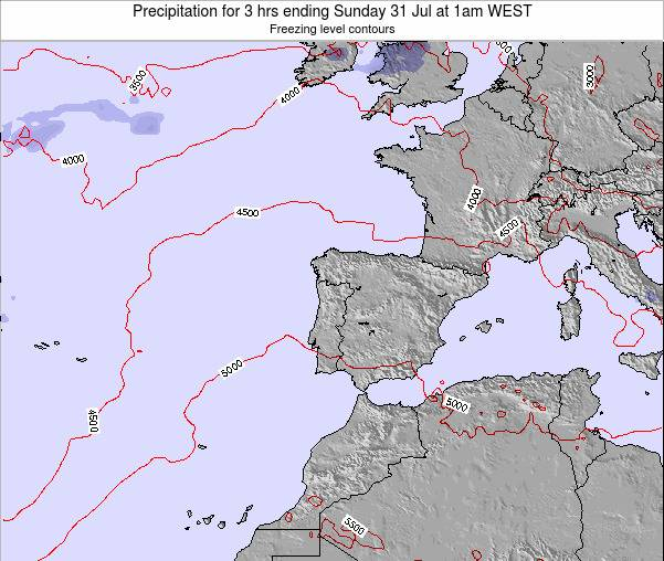 Portugal Precipitation for 3 hrs ending Wednesday 16 Apr at 7pm WEST map