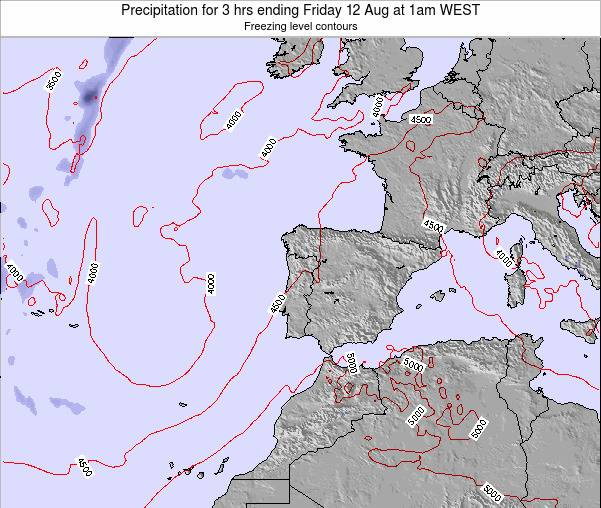 Portugal Precipitation for 3 hrs ending Sunday 26 May at 7am WEST map