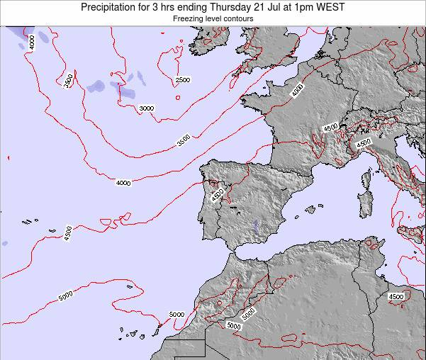 Portugal Precipitation for 3 hrs ending Wednesday 11 Dec at 6am WET