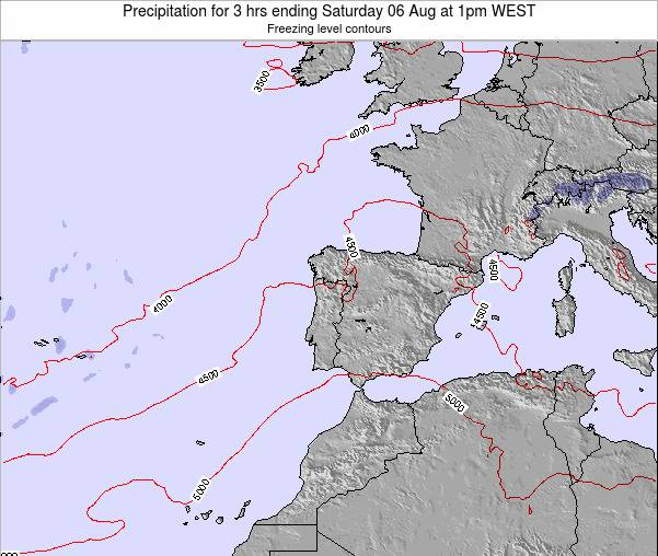 Portugal Precipitation for 3 hrs ending Wednesday 29 May at 7pm WEST map