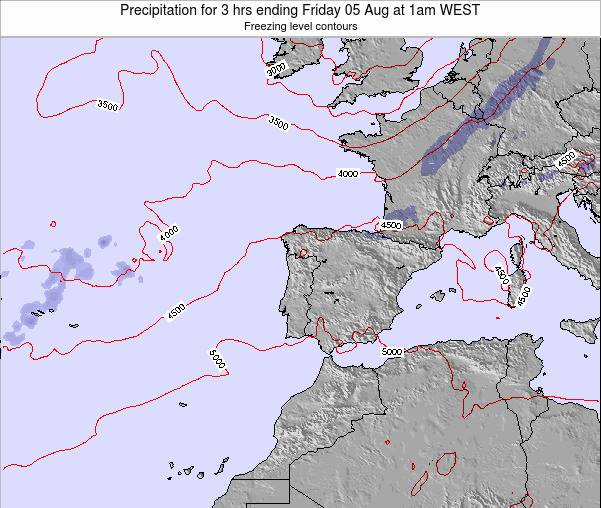 Portugal Precipitation for 3 hrs ending Monday 27 May at 1am WEST