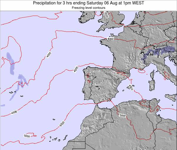 Portugal Precipitation for 3 hrs ending Friday 14 Mar at 12pm WET