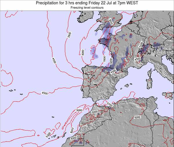 Portugal Precipitation for 3 hrs ending Friday 31 May at 1am WEST