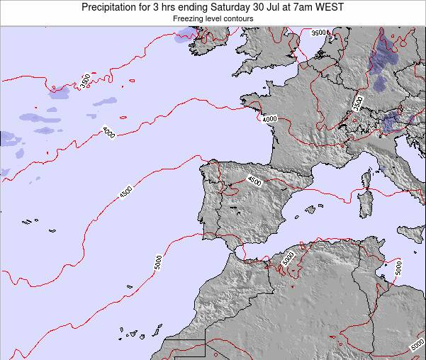 Portugal Precipitation for 3 hrs ending Thursday 15 Oct at 1am WEST