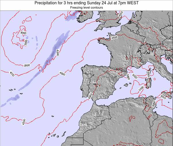 Portugal Precipitation for 3 hrs ending Monday 03 Oct at 7am WEST