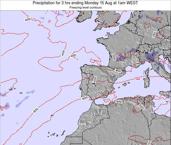 Portugal Precipitation for 3 hrs ending Thursday 30 May at 7am WEST map