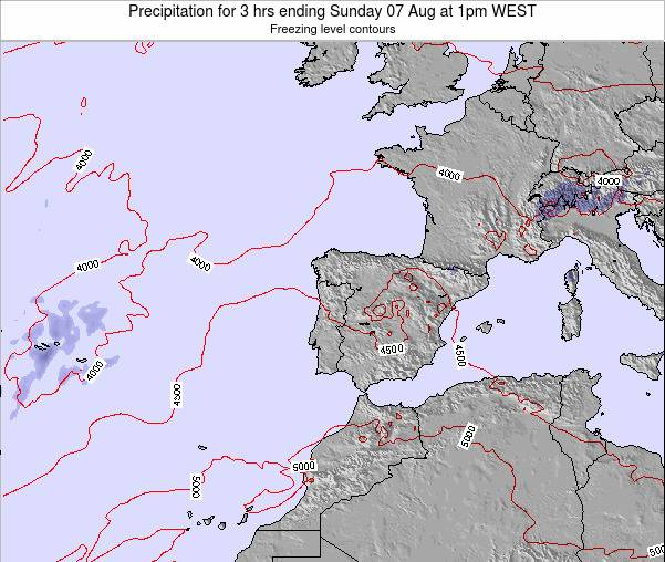 Portugal Precipitation for 3 hrs ending Sunday 26 May at 7pm WEST map