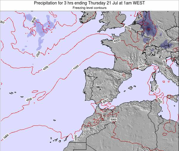 Portugal Precipitation for 3 hrs ending Sunday 20 Apr at 7am WEST