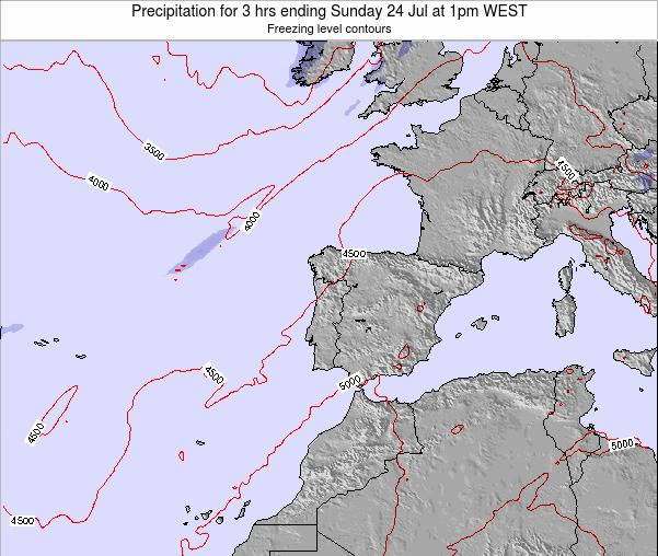 Portugal Precipitation for 3 hrs ending Sunday 26 Jun at 1pm WEST