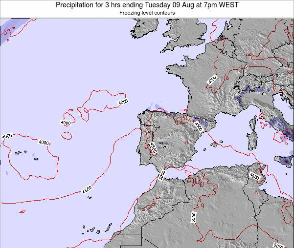 Portugal Precipitation for 3 hrs ending Friday 14 Mar at 12am WET