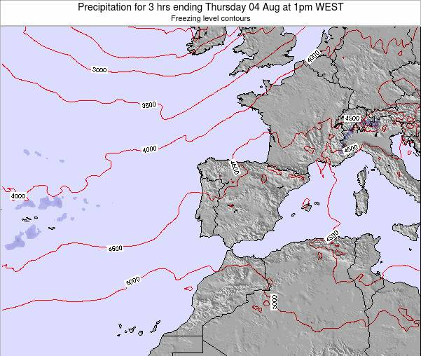 Portugal Precipitation for 3 hrs ending Sunday 29 Mar at 12pm WET