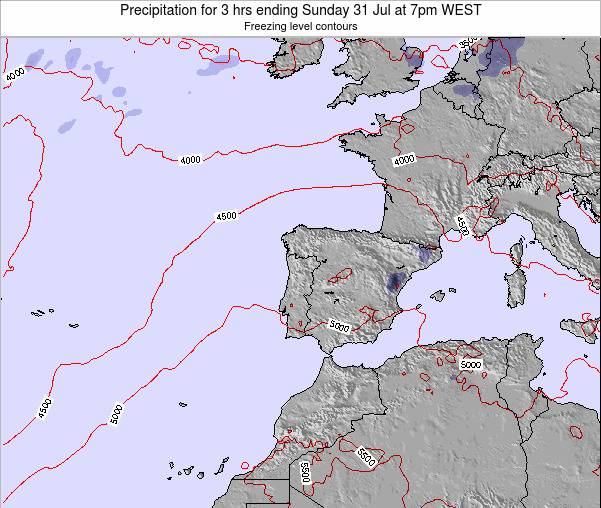 Portugal Precipitation for 3 hrs ending Thursday 02 Oct at 1pm WEST