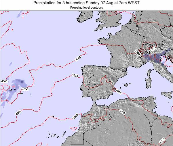 Portugal Precipitation for 3 hrs ending Monday 20 May at 1am WEST