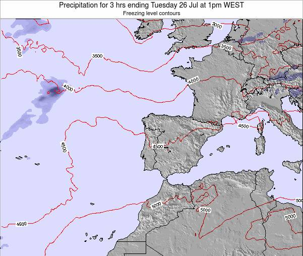 Portugal Precipitation for 3 hrs ending Saturday 14 Dec at 6pm WET
