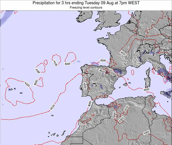 Portugal Precipitation for 3 hrs ending Friday 24 Feb at 12pm WET